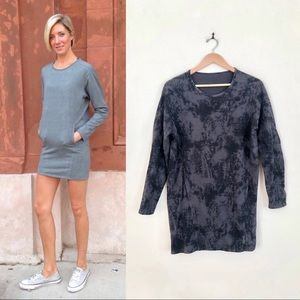 {lululemon} RARE Comme to Cozy Black Seabed Dress